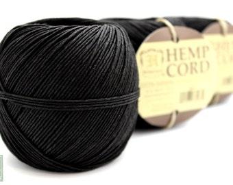 Hemp Cord, Black 400ft Hemp Twine Ball, Colored Twine, Craft String