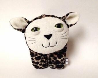 stuffed animal plush kitty cheetah faux fur - Pauline the leopard