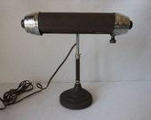 Vintage Atomic Metal Gooseneck Desk Lamp