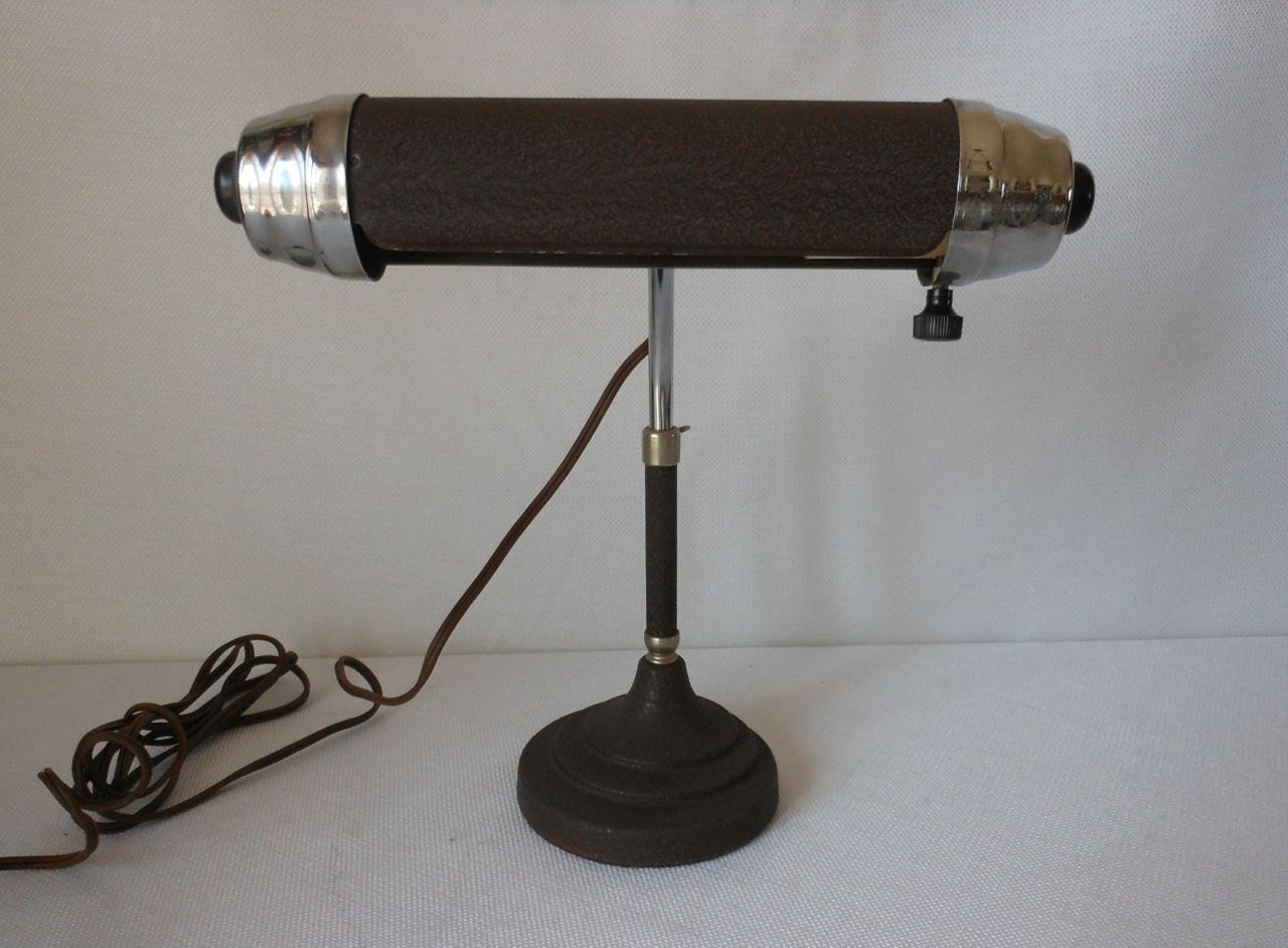 vintage atomic metal gooseneck desk lamp by 2cool2toss on etsy. Black Bedroom Furniture Sets. Home Design Ideas