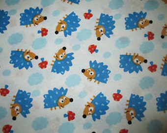 Hedgehogs- Cotton Fabric BTY