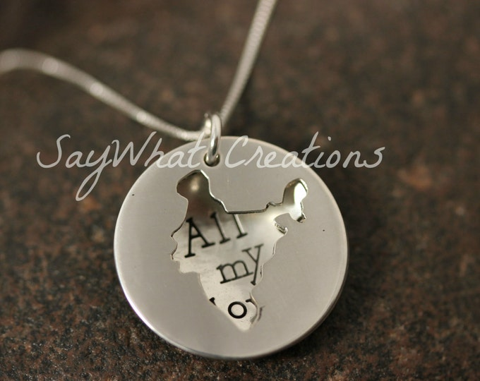 Custom Hand Stamped Sterling Silver INDIA Locket Necklace Perfect for Adopting Mothers