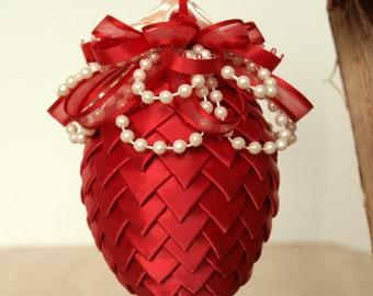 Ribbon Egg Ornament