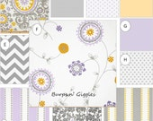 Window Panels Drapes Lilac Gray Floral
