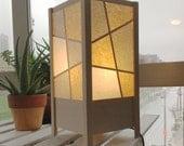Shoji Style Book Lamp: White Stain