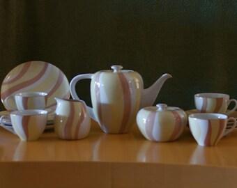 Vintage mid century modern elegant mascot china tea set Eames era coffee japan
