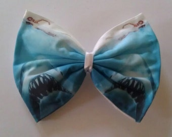 Shark Attack - Jaws Printed Hair Bow