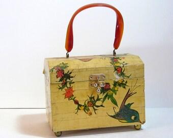 Vintage Decoupaged Box Purse