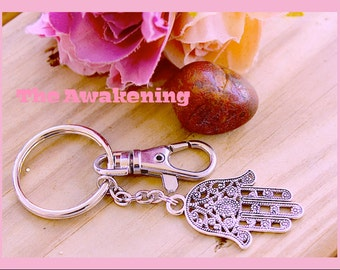 Namaste Key Ring,Divine Awakening Namaste Buddha Symbol Key Ring, Unisex,  Zen, Meditation,  Yoga, Hindu,  Chakra ,By: Tranquilityy