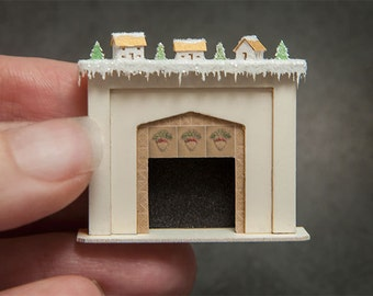 1:48 Fireplace with Glitter Houses Kit