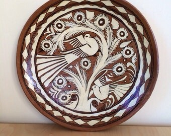 1970s dove tray/ platter