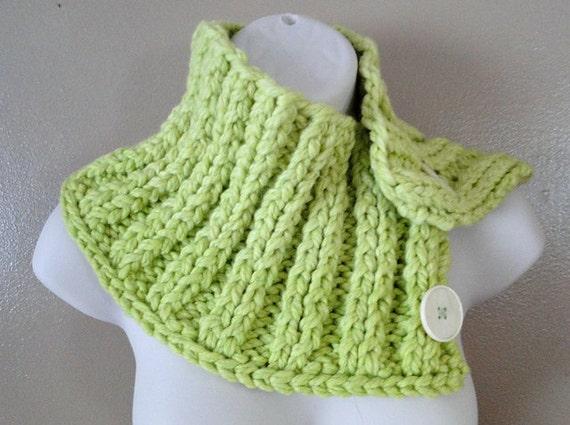 Cozy Button Cowl Knitting Pattern PDF by loverubyknits on Etsy