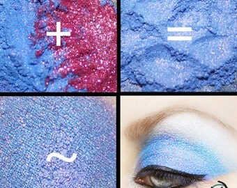 Customized Glitter Eye Shadow - Create you own unique colors - Choose any base color and mineral glitter combination