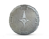 DUMBO Sewer Cover Printed Pillow