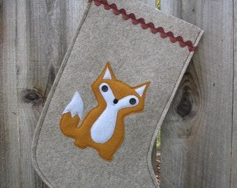 Fox Christmas Stocking Woodland Baby Fox made of wool felt wool ecofelt eco felt