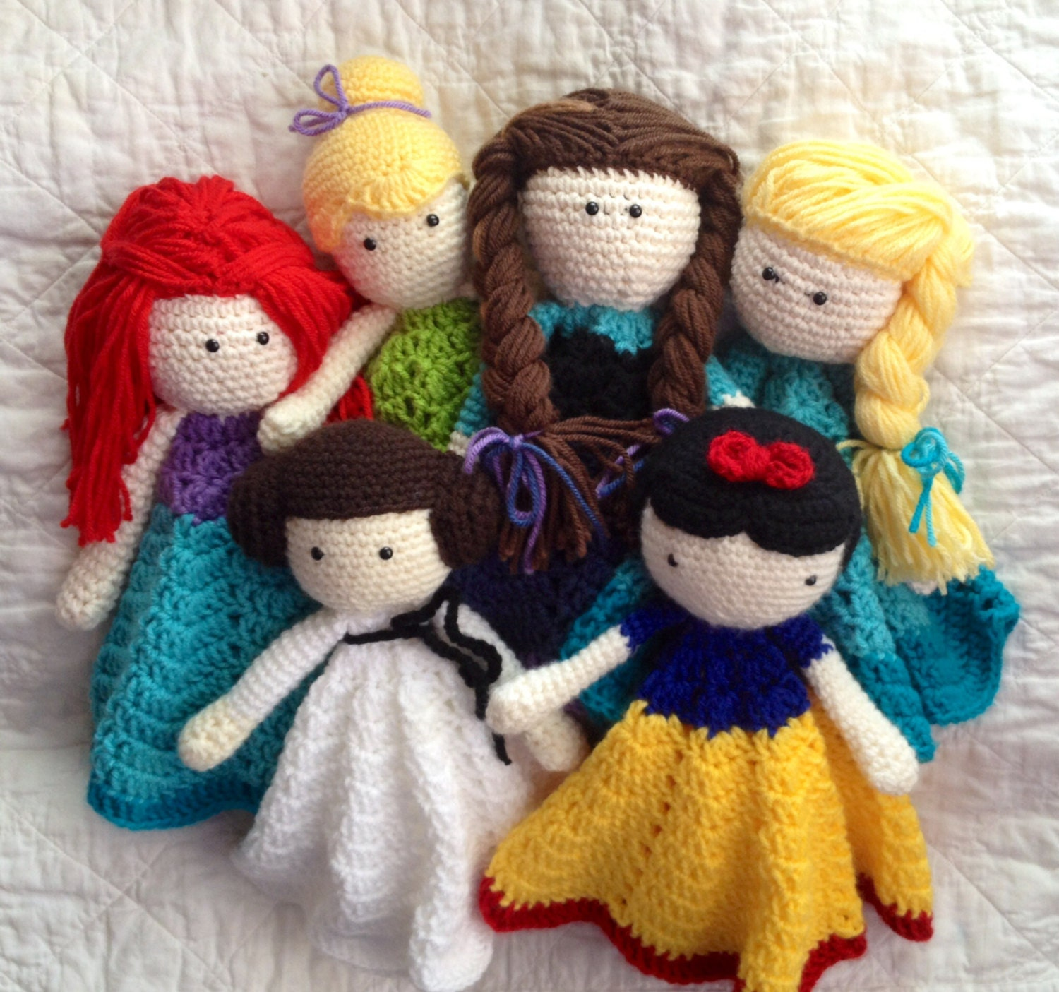 Princess Lovey/ Security Blanket/ Plush Doll/ Stuffed Toy