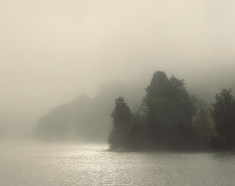 landscape photography, fog photography, lake house decor, lake photography, FOGSCAPE