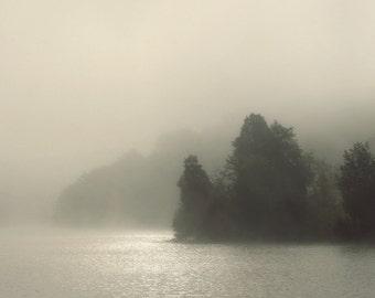 landscape photography, fog photography, lake house decor, lake photography, FOGSCAPE