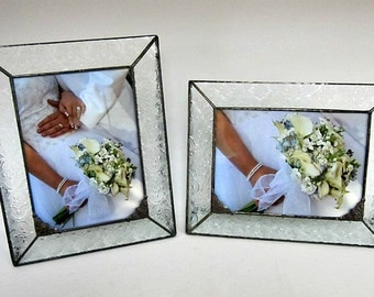 5x7 Picture Frame, Stained Glass Frame, Keepsake Picture Frame, Wedding Photo Frame, Confirmation Photo Frame, Keepsake Frame, Vintage Frame