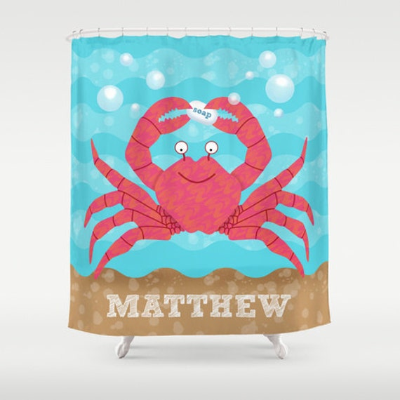 Kids Personalized Under the Sea Shower Curtain, Children's Sea Theme ...