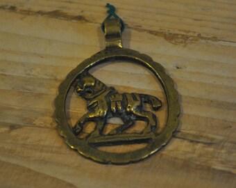 Horse brass - Tack - Miniature walking Shire horse - Pub decoration - English