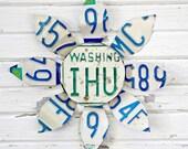 License Plate Flower - Washington