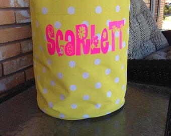 """Easter basket Easter Tote personalized Monogrammed (10""""x9"""" with 10"""" handle)"""