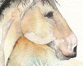 WAR HORSE greeting card watercolor spirit TOTEM animal Native American