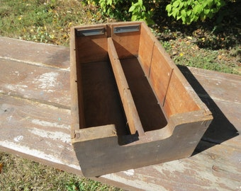 Vintage Wooden Storage Box.