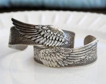 Feather Wing Bracelet,jewelry gift,Angel Wing,best firend Bracelet,Silver Leaf Jewelry,Fall Leaf Jewelry,Autumn,Bride,Wedding.