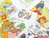Scrap-booking pack, themed children's paper ephemera pack, collage paper pack, paper scraps, craft supplies