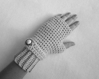 Crochet Pattern - Fingerless Mitts - Teen and Adult Women Fingerless Gloves, Mittens, Gauntlets, Typist Gloves, Fall or Spring Accessory