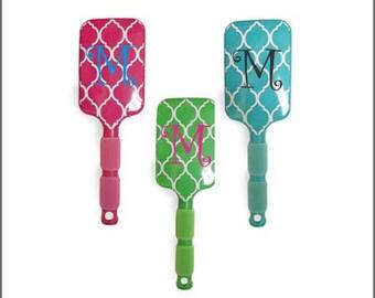 Quatrefoil Paddle Brushes - Summer Camp - College Dorm - Monogrammed FREE