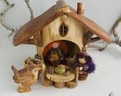 Woodland Gnome Lodge with  Furnishings