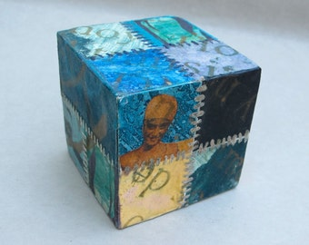 Paperweight, wooden block