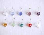 ADD a Swarovski Crystal Charm to Any Bangle, Bracelet or Necklace You Order, Birthstone Swarovski Crystal Add, Birthstone charm add