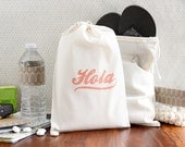 "Destination Welcome Bags - Wedding Welcome Bags - ""Hola"" - Choose Your Color"