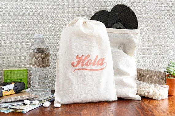 "Destination Welcome Bags - Wedding Welcome Bags - ""Hola"" Welcome Bags - Destination Welcome Bags - Destination Wedding Bags - Beach Wedding"