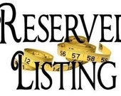 Reserved Listing For Kathy Groah