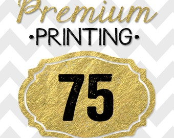 75 5x7 PREMIUM PRINTED double-sided INVITATIONS on thick cardstock and free white envelopes
