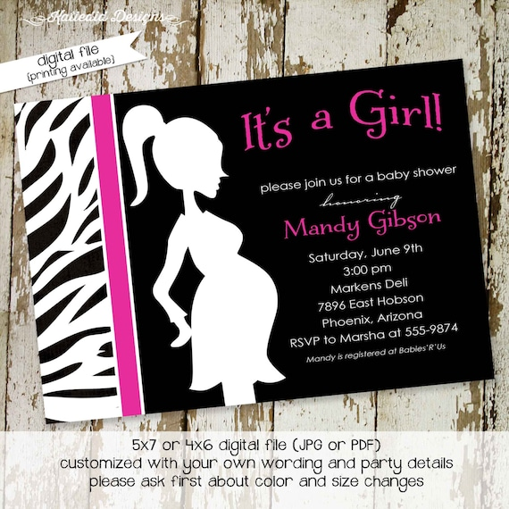 Monkey Girl Invitations is awesome invitation design