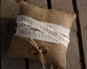 Wrapped in Love ring pillow.