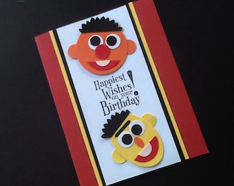 Bert and Ernie Birthday Card or Party Invitation