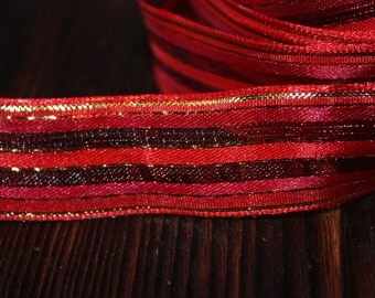 S A L E  2 yards Ribbon with Wired Edging is Gorgeous Home Decor