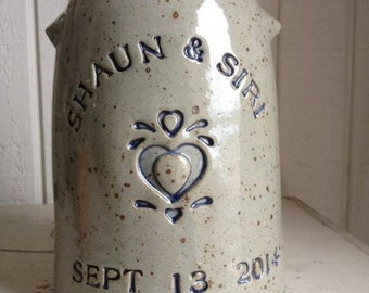 Personalized Stoneware Anniversary Crock