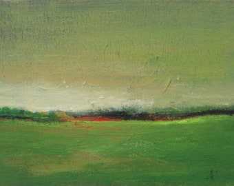"Sunset Countryside - original oil painting - landscape painting - plein air - canvas board 5""x7""- small oil painting"