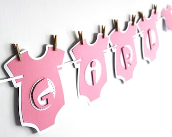 It's A Girl Banner - Baby Shower Banner