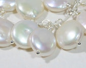 Bridesmaid Pearl Pendant Pearls Wire Wrapped One wire wrapped pearl pendant