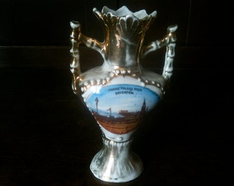 Vintage German Marine Palace Pier Brighton Souvenir Vase circa 1950-60's / English Shop