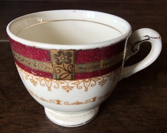 Vintage English tiny tea cup circa 1960's / English Shop
